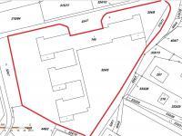 Snímek z KN - Prodej komerčního objektu 7165 m², Vacov