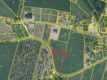 předmětný pozemek - Prodej pozemku 2840 m², Malovice