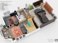 půdorys přízemí (Prodej domu v osobním vlastnictví 150 m², Metylovice)