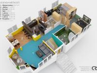 půdorys 1. patro (Prodej domu v osobním vlastnictví 150 m², Metylovice)