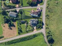 letecký snímek (Prodej domu v osobním vlastnictví 150 m², Metylovice)