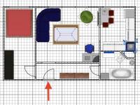 půdorys (Prodej bytu 2+1 v družstevním vlastnictví 45 m², Ostrava)