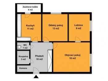 Prodej bytu 3+1 v družstevním vlastnictví 77 m², Ostrava