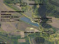 Prodej pozemku 28255 m², Obory