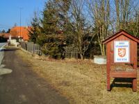 pohled z ulice na zahradu (Prodej domu v osobním vlastnictví 114 m², Vranovice)