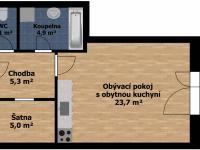 Pronájem bytu 1+kk v osobním vlastnictví 49 m², Holubice