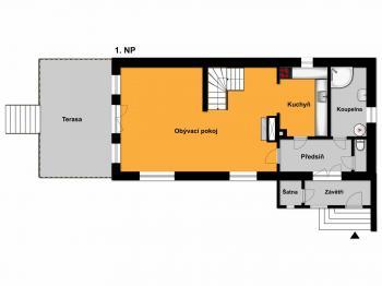 1. NP - Prodej domu v osobním vlastnictví 120 m², Kamenice