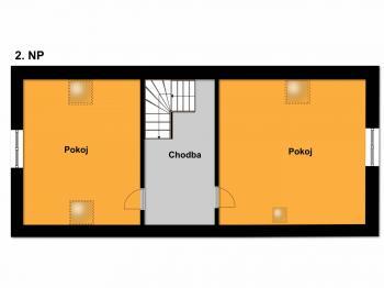 podkroví - Prodej domu v osobním vlastnictví 120 m², Kamenice