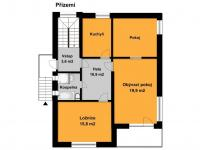 orientační plánek 1. podlaží (Prodej domu v osobním vlastnictví 213 m², Roztoky)