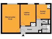 Pronájem bytu 2+1 51 m², Praha 9 - Letňany