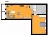 půdorys podkroví - Prodej domu v osobním vlastnictví 170 m², Mělník