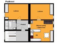 orientační plánek podkroví (Prodej domu v osobním vlastnictví 218 m², Praha 6 - Břevnov)