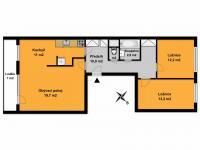 Prodej bytu 3+1 v osobním vlastnictví 73 m², Praha 5 - Stodůlky