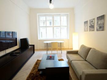 obývací pokoj - Pronájem bytu 2+1 v osobním vlastnictví 69 m², Praha 1 - Josefov