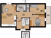 půdorys - Prodej bytu 3+kk v osobním vlastnictví 88 m², Holubice
