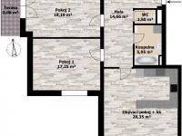 Prodej bytu 3+kk v osobním vlastnictví 91 m², Holubice