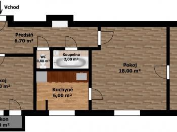 Prodej bytu 3+1 v osobním vlastnictví 56 m², Praha 10 - Strašnice