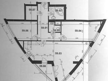 půdorys bytu - Pronájem bytu 3+kk v osobním vlastnictví 92 m², Praha 5 - Stodůlky