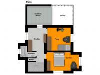 situace 2.NP - Prodej domu v osobním vlastnictví 210 m², Praha 5 - Hlubočepy