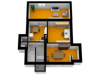 situace 1.NP - Prodej domu v osobním vlastnictví 210 m², Praha 5 - Hlubočepy