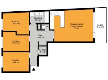 Prodej bytu 4+kk v osobním vlastnictví 99 m², Praha 5 - Stodůlky