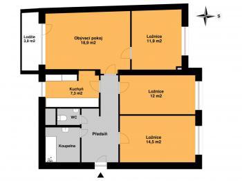 Prodej bytu 4+1 v osobním vlastnictví 85 m², Praha 4 - Braník