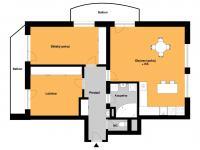 orientační plánek bytu - Prodej bytu 3+kk v osobním vlastnictví 91 m², Přezletice