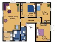 Pronájem domu v osobním vlastnictví 103 m², Praha 5 - Lipence