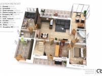 Dům B přízemí - Prodej domu v osobním vlastnictví 241 m², Psáry