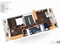 Půdorys 3. NP - Prodej bytu 6+kk v osobním vlastnictví 214 m², Dolní Břežany