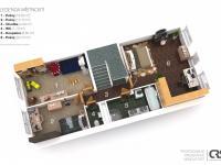 Půdorys 2. NP - Prodej bytu 6+kk v osobním vlastnictví 214 m², Dolní Břežany