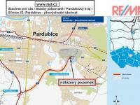 plán obchvatu (Prodej pozemku 20717 m², Pardubice)