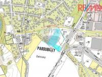 mapa (Prodej pozemku 20717 m², Pardubice)