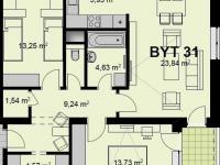 Prodej bytu 3+kk v osobním vlastnictví 79 m², Chrudim