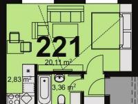 Prodej bytu 1+kk v osobním vlastnictví 30 m², Chrudim