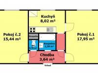 Prodej bytu 2+1 v osobním vlastnictví 54 m², Pardubice