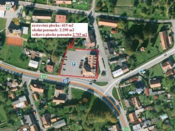 lokalizace - Prodej komerčního objektu 2705 m², Ostřetín