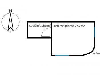 Pronájem komerčního objektu 28 m², Pardubice