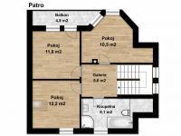 Půdorys 1. patro (Prodej domu v osobním vlastnictví 115 m², Zdiby)