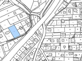 Katastrální mapa - Prodej pozemku 1816 m², Černošice