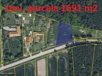 Prodej pozemku 1691 m², Boršov nad Vltavou