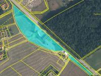 mapa pozemků vyznačená - Prodej komerčního objektu 10785 m², Halámky