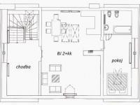 půdorys 2.patro (Prodej domu v osobním vlastnictví 750 m², Černá v Pošumaví)