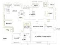 půdorys přízemí (Prodej domu v osobním vlastnictví 750 m², Černá v Pošumaví)