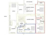 půdorys 1.patro (Prodej domu v osobním vlastnictví 750 m², Černá v Pošumaví)