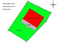 výměry domu a pozemku, orientace (Prodej domu v osobním vlastnictví 160 m², Frymburk)