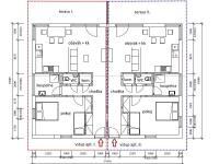 půdorys apartmánů I. a II. (Prodej domu v osobním vlastnictví 160 m², Frymburk)
