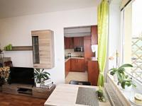 obývací pokoj s kuchyňským koutem (Pronájem bytu 2+kk v družstevním vlastnictví 50 m², České Budějovice)