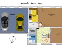 Orientační půdorys přízemí (Prodej domu v osobním vlastnictví 220 m², Roudné)