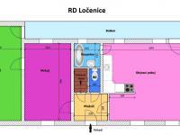 půdorys obytné části (Prodej domu v osobním vlastnictví 80 m², Ločenice)